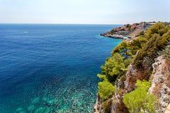 Adriatisches meeres- Dubrovnik, Dalmatien, Kroatien Lizenzfreie Stockbilder