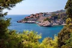 Adriatisches meeres- Dubrovnik, Dalmatien, Kroatien Lizenzfreies Stockbild
