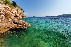 Adriatisches meeres- Dubrovnik, Dalmatien, Kroatien Stockfotos