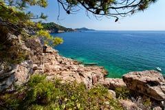 Adriatisches meeres- Dubrovnik, Kroatien Stockbild