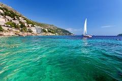 Adriatisches meeres- Dubrovnik, Kroatien Stockfotografie