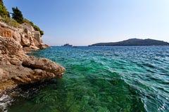 Adriatisches meeres- Dubrovnik, Kroatien Lizenzfreie Stockfotos