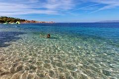 Adriatisches meeres- Makarska Dalmatien Kroatien Stockfoto