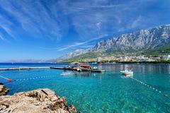 Adriatisches meeres- Makarska, Kroatien Stockbild