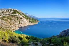 Adriatisches meeres- Makarska Riviera Dalmatien Kroatien Stockbild