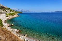 Adriatisches meeres- Makarska Riviera, Dalmatien, Kroatien Lizenzfreie Stockfotos