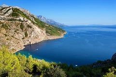 Adriatisches meeres- Makarska Riviera Dalmatien, Kroatien Stockfotos