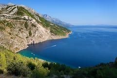 Adriatisches meeres- Makarska Riviera Dalmatien, Kroatien Lizenzfreies Stockbild