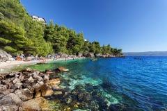 Adriatisches meeres- Makarska Riviera, Kroatien Lizenzfreie Stockfotos
