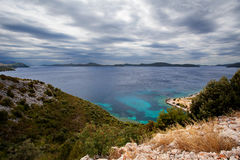 Adriatisches meeres- nahe gelegenes Dubrovnik, Kroatien Lizenzfreie Stockfotos