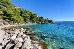 Adriatisches meeres- nahe gelegenes Makarska, Dalmatien, Kroatien Lizenzfreies Stockfoto