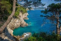 Adriatisches Montenegro-Ufer Lizenzfreies Stockbild