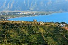 Adriatisches Seeabendansicht Albanien Lizenzfreie Stockbilder