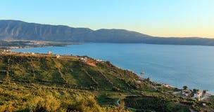 Adriatisches Seeabendansicht Albanien Stockbild