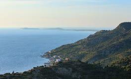 Adriatisches Seeabendansicht Albanien Lizenzfreie Stockfotografie