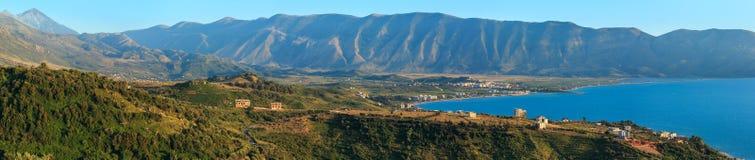 Adriatisches Seeabendansicht Albanien Stockbilder