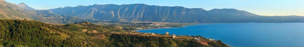 Adriatisches Seeabendansicht Albanien Lizenzfreie Stockfotos
