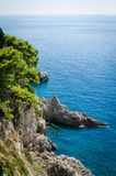 Adriatisches Seeansicht Stockfoto