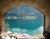 Adriatisches Seebucht von kotor Lizenzfreies Stockbild