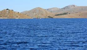 Adriatisches Seeinsellandschaft Lizenzfreies Stockbild