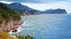 Adriatisches Seeküstenlandschaft Lizenzfreies Stockbild