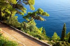 Adriatisches Seeküstenlinie Lizenzfreie Stockbilder
