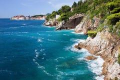 Adriatisches Seeküstenlinie Lizenzfreies Stockbild