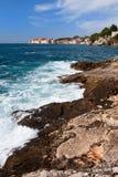 Adriatisches Seeküstenlinie Stockfotos
