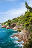Adriatisches Seeküstenlinie Stockbild