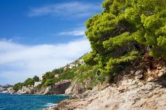 Adriatisches Seeküstenlinie Lizenzfreie Stockfotografie