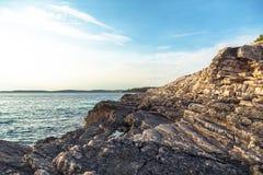 Adriatisches Seeküstenlinie in Kroatien Lizenzfreie Stockbilder