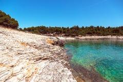 Adriatisches Seeküstenlinie in Kroatien Stockfoto
