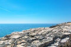 Adriatisches Seeküstenlinie in Kroatien Lizenzfreies Stockfoto