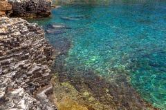 Adriatisches Seeküstenlinie in Kroatien Lizenzfreies Stockbild