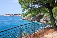Adriatisches Seeküstenlinie nahe Dubrovnik Lizenzfreie Stockbilder