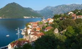 Adriatisches Seeküstenstadtlandschaft Lizenzfreie Stockfotos