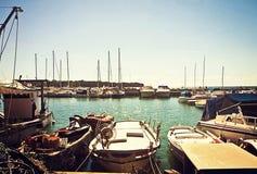 Adriatisches Seekleiner Hafen Italiens Lizenzfreie Stockfotografie