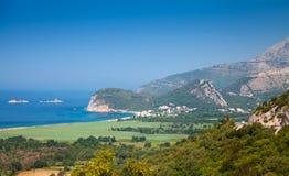Adriatisches Seelandschaft. Buljarica, Montenegro Stockfotografie