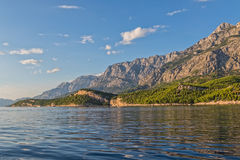 Adriatisches Seelandschaft Tucepi Stockfoto