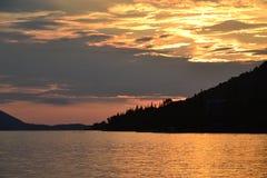 Adriatisches Seesonnenuntergang Lizenzfreie Stockfotografie