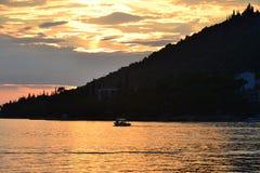 Adriatisches Seesonnenuntergang Lizenzfreies Stockbild