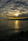 Adriatisches Seesonnenuntergang Stockbilder