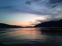 Adriatisches Seesonnenuntergang Stockfotos