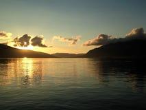 Adriatisches Seesonnenuntergang Lizenzfreie Stockfotos