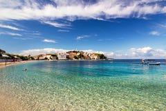 Adriatisches Seestadt von Primosten-Landschaft, Kroatien Lizenzfreie Stockfotografie