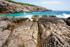 Adriatisches Seestrand in Kotor Lizenzfreies Stockfoto