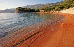 Adriatisches Seestrandansicht Stockfotos