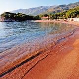 Adriatisches Seestrandansicht Lizenzfreies Stockfoto