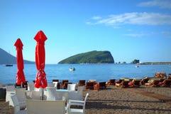 Adriatisches Seestrandansicht Stockfoto