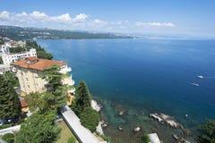 Adriatisches Seeszenische Ansicht Stockbilder